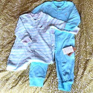 3/$20 2-Pack NWT Cotton Footless Pajamas